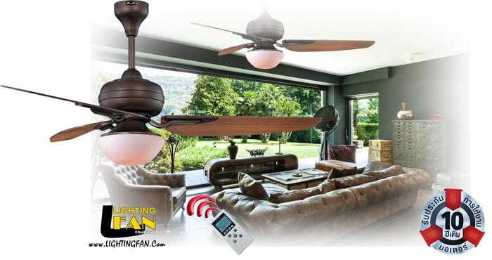 พัดลมโคมไฟติดเพดาน 56นิ้ว มีรีโมท